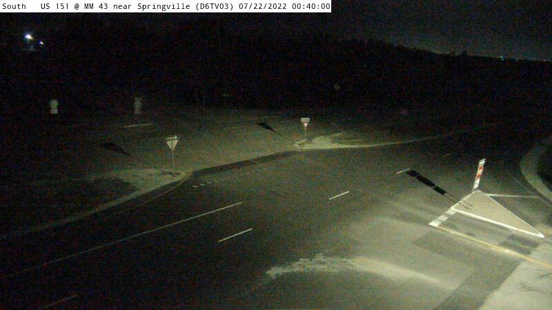 D6 - US 151 @ MM 43.5 near Springville W (03)